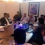 Dr Shahzad Waseem in a meeting at Secretary General PTI Jahangir Tareen residence regarding 2nd Nov Islamabad Lockdown