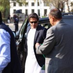 PTI Central Secretary for Foreign Affairs Dr Shahzad Waseem accompanying Chairman Imran Khan at supreme court