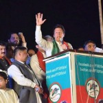 PTI Chairman Imran Khan addressing 20th Foundation Day Jalsa