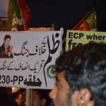 PTI Supporters against irregularities in Election 2013