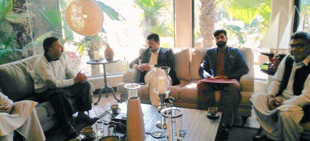 PTI Jhelum Delegation called on Dr Shahzad Waseem at his residence