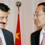 Dr Shahzad Waseem, advisor to Chairman PTI, greeted by Chinese Ambassador H.E. Mr. Sun Weidong at Pak-China friendship reception in Islamabad — in Islamabad.