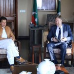 Dr Shahzad Waseem received Denmark Ambassador Ole Thonke & delegation for meeting with PTI chairman Imran Khan and CM KP at bani gala.