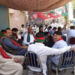 Team IKL (Imran Khan Lovers Islamabad) of Dr Shahzad Waseem camped at Lahore to support and motivate voters for #BalleyPeThappa