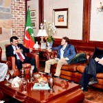 US Congress Staff Members met Dr Shahzad Waseem Central Secretary for foreign affairs PTI at his residence