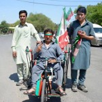 Dr Shahzad Waseem Leading the rally in streets of Islamabad campaigning for PTI 20th Foundation Day  Jalsa.