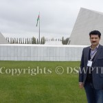 Dr Shahzad Waseem at Guba Genocide Memorial building. — at Guba, Azerbaijan.
